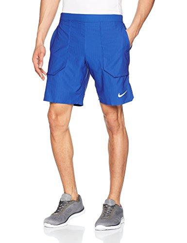 Nike Herren Flex Ace Wimbledon Shorts, Blue Jay/White, L (Nike Tennis-shorts)