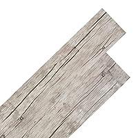 vidaXL Self-adhesive PVC Flooring Planks 5.02m² 2mm Oak Washed Home Floor Tile