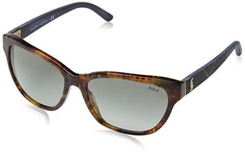Polo Ralph Lauren Damen PH4093 Sonnenbrille, Braun (Havana 550311), One size (Herstellergröße: 56)