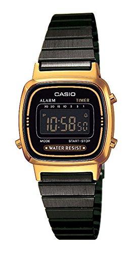 Casio Reloj Digital para Mujer de Cuarzo con Correa en Acero Inoxidabl