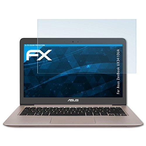 atFolix Schutzfolie kompatibel mit Asus ZenBook UX3410UA Folie, ultraklare FX Displayschutzfolie (2X)