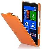StilGut Ultraslim Case, Custodia in Vera Pelle per Nokia Lumia 820, Arancione