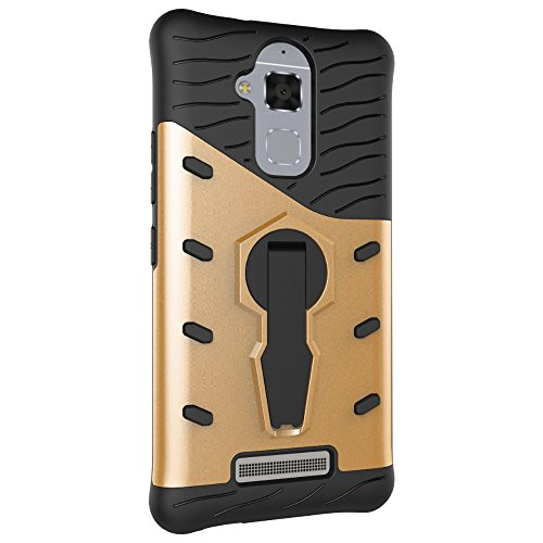 Für Asus Zenfone3 Max ZC520TL Fall Neue Rüstung Tough Style Hybrid Dual Layer Rüstung Defender Soft TPU / PC Rückseitige Abdeckung Fall mit 360 ° Stand [Shockproof Case] ( Color : Blue ) Gold