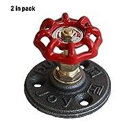 2 in Pack Retro Creative Metal Hand Wheel Hooks Wall Mounted Hardware Robe/Hat/Coat Hangers Door Knobs