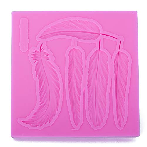 JIALI Blätter federform 3D Handwerk Relief Schokolade süßwaren Silikonform Fondant Kuchen Küche Dekorieren DIY Tools Relief-blättern
