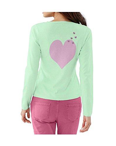 RICK CARDONA - Gilet - Opaque - Femme Rose mint-pink Multicolore - mint-pink