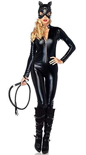 Costume da Catwoman - Gatta - Gattina Nera - Donna Ragazza - Sexy - Travestimento - Carnevale - Halloween - Cosplay - Accessori - Colore Nero - Taglia XXL - Idea regalo per natale e compleanno