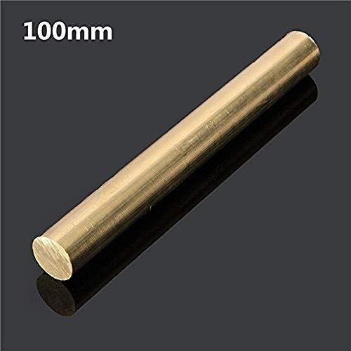 Rundstange, 12 mm x 100/200/330/500 mm, Messing, Rundrohr - 100 mm, gelb