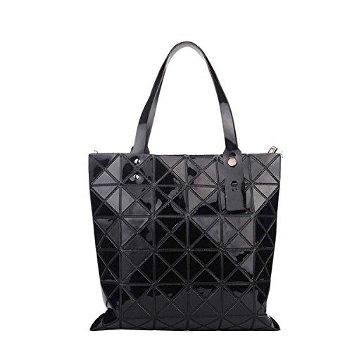 Forma Geometrica Pacchetto Cube Pieghevole Varietà Borsa A Tracolla Della Borsa Di Modo Casuale Black