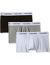 Calvin Klein Underwear - Cotton Stretch - Boxer - Lot de 3 - Homme - Multicolore (Noir/Blanc/Gris) - FR : Medium (Taille fabricant : M)