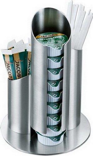 Preisvergleich Produktbild Esmeyer 400-2647 Portionsspender MULTI aus mattiertem Edelstahl, für Milchdöschen, Zuckertüten und Rührstäbchen