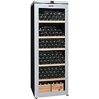 La Sommelière VIP315V Independiente Nevera de vino termoeléctrico Negro 315bottle(s) A - Enfriador de vino (Independiente, Negro, Negro, 5 estanterías, 1 puerta(s), Plata)