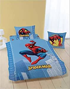 housse de couette spiderman parure de lit. Black Bedroom Furniture Sets. Home Design Ideas