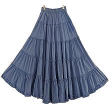CoutureBridal Femme Jupe de Plage Longue Maxi d été en Coton ... 103591ca9596