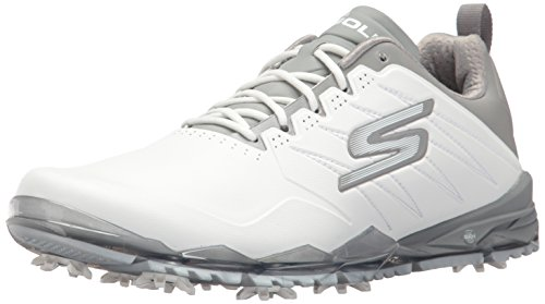 Skechers Go Golf Focus 2, Scarpe da Golf Uomo, Bianco (White/Gray), 42 EU