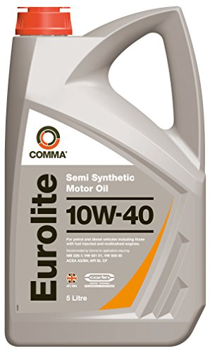 Comma EUL5L 5L Eurolite Semi Synthetic 10W40 Motor Oil