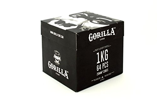Gorilla Cube Shisha Kohle 1kg Box - 26mm Cubes -