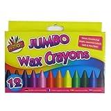 Pour enfants, grands crayons de cire de couleurs (paquet de 12)
