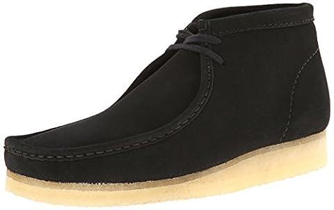 Clarks Originals Men's Wallabee Boot, Black Suede, 13 M