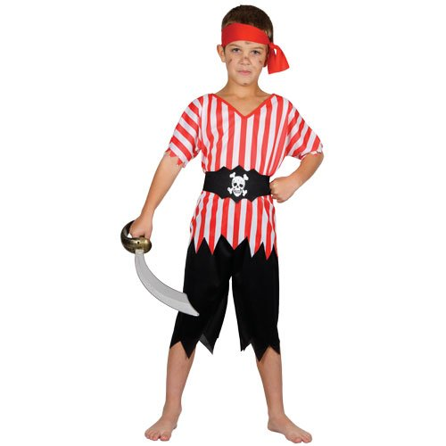 High Seas Pirate - Kids Costume 5 - 7 years (Hoch Seas Pirat Kostüm)