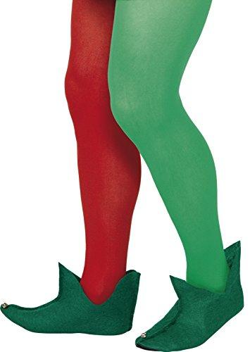 Smiffys, Unisex Elfen Stiefel, One Size, Grün, 21449 (Herren Grün Kostüm Stiefel)