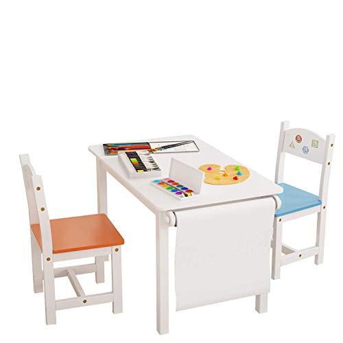 Homfa Juego Mesa 2 Sillas Niños Muebles Infantiles