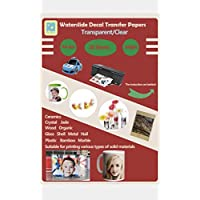 A4 Inkjet Water Slide Decal Paper 20 Sheets Transparent Clear DIY for Inkjet Printer