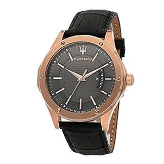 MASERATI Reloj Analógico para Hombre de Cuarzo con Correa en Cuero R8851127001