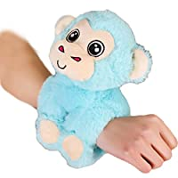 Macabolo Unicorn Arm Huggers Stuffed Animal Kids Toy Slap Bracelet Kitty Puppy Dog Monkey Plush Toys soft gifts for kids baby wrist band