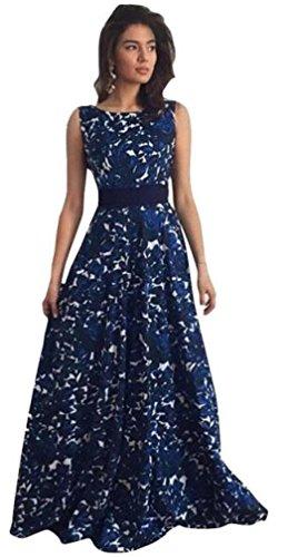 robe femme, Transer ® Femmes sexy Vintage Floral Long formelle Prom Party robe de bal mariage robe de soirée Bleu