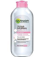 Garnier Acqua Micellare Tutto in 1 Struccante Viso, Occhi e Labbra per Pelli Sensibili, 400 ml
