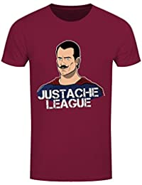 Grindstore Men's Justache League T-Shirt Burgundy