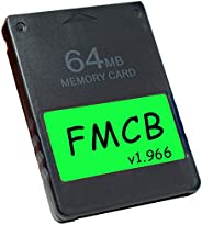 Skywin FMCB Free McBoot Card v1.966 for PS2 - Plug and Play PS2 Memory Card - 64 MB Memory Card PS2 Runs Games