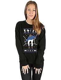 Crazy Girls Womens Hotline Bling Drake Ugly Christmas Jumper Funny Santa Fleece Sweatshirt