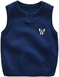48dd3b506 Xuanbao Chaleco de algodón con Cuello en V para niños