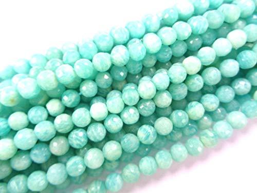 Runde Perlen Strang, 8 Zoll langen Strang, facettierte Perlen Großhandel ()