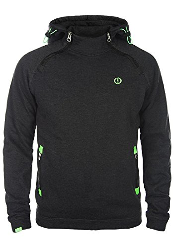 SOLID BenjiHood Herren Kapuzenpullover Hoodie Sweatshirt aus hochwertiger Baumwollmischung, Größe:M, Farbe:Dark Grey Melange (8288)