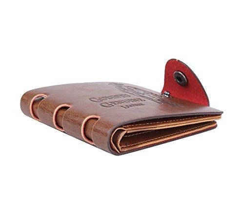 Genda 2Archer Herren Soft-Tasche Bifold Brieftasche Vintage-Knopfverschluss ID Kreditkarteninhaber (Style 5) Style 6