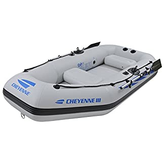 Jilong Sporting Goods Cheyenne III 400 Inflatable Boat, White