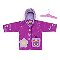 Kidorable Kids Butterfly Hooded Raincoat (Small 80-86cm)