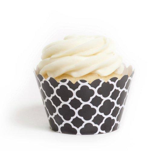 Kleid My Cupcake schwarz spanische Kacheln Cupcake Wrappers, Set von 12 (Liner Cupcakes Schwarz)