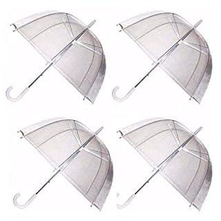 Ardisle4 X Einstellen Regen Regenschirme Kuppel Vogelkäfig Transparent PVC Hochzeit Regenschirm Klar Blase