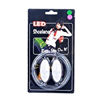 Aishah New Version Light Up LED Shoelaces Fashion Flash Disco Party Glowing Neon Shoelace - Blue Lazy Laces Wholesales Dropshipping(blue)