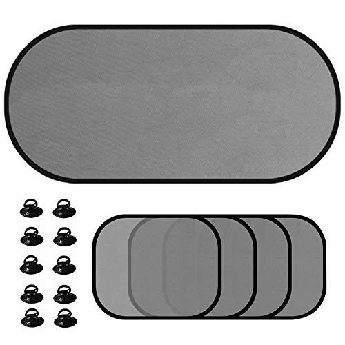 accessoires pour fen/être auto Chiffon Rideau 2/pinces de voiture /à ventouse pour Cartes Noir Itimo Supports pour pare soleil
