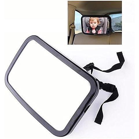 Baby retrovisore Specchio Backseat–Baby peluche Sedile posteriore bambino sicurezza Specchio Posteriore per seggiolini, regolabile, 360gradi vista–in vetro temperato