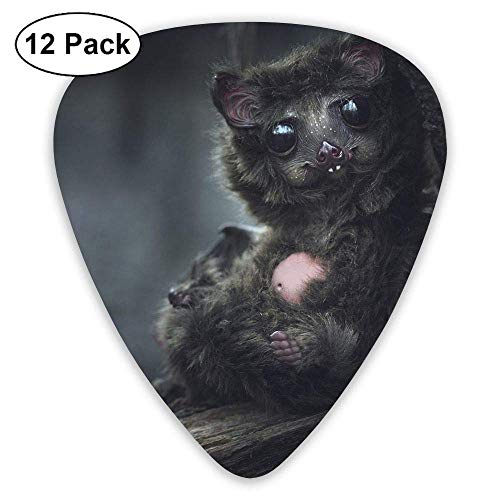 Bat Baby with Black Hair Classic Guitar Pick (12 Pack) for Electric Guita Bass,0.46/0.73/0.96 Mm Guitar