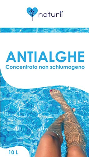 Naturii antialghe Concentrate Non-foaming alghicide for Anti Algae Pools for Pool in Pack of 10 liters