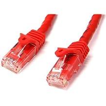 StarTech.com N6PATC3MRD - Cable de red Ethernet Cat 6, 3 m, rojo