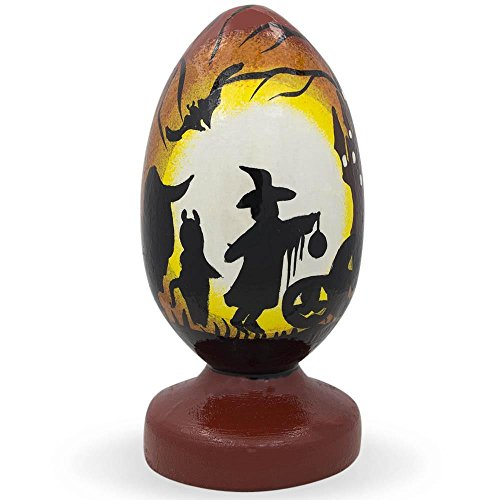 BestPysanky 8,9 cm Trick or Treat auf Halloween Night Holz Figur