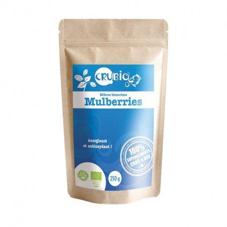CRUBIO - Mûres Blanches séchées (Mulberries) certifiées BIO